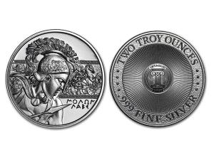 斯巴達高浮雕銀章2盎司(Type 1)