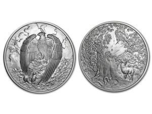 北歐生物仿古銀章5盎司-巨鷹 Vedfolner