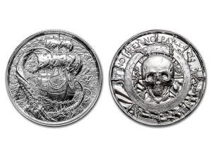 挪威海怪-克拉肯高浮雕銀幣2盎司