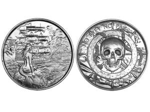 人魚高浮雕銀幣2盎司