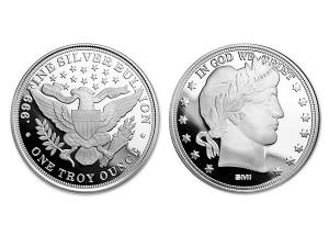 美國巴伯銀幣1盎司