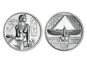 埃及神話高浮雕銀幣2盎司-埃及豔后