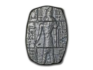 埃及遺物系列-荷魯斯仿古銀條3盎司