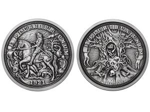 羅馬聖殿騎士高浮雕仿古銀章5盎司