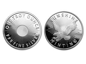 美國陽光銀幣1盎司(SI)