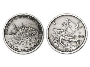 2016銀甲蟲群島-美人魚銀幣1盎司(仿古版)