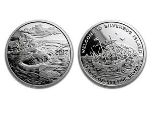 2017銀甲蟲群島-漩渦銀幣1盎司