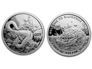 2018銀甲蟲群島-利維坦銀幣1盎司