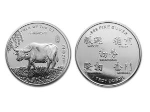 2021美國生肖牛年銀幣1盎司
