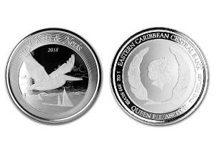2018聖基茨和尼維斯鵜鶘1盎司銀幣