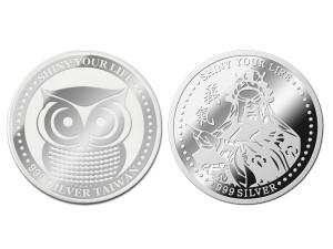 關公銀幣3.5錢(附贈保護殼&展示盒)