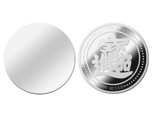 招財進寶銀幣1盎司(附保護殼&展示盒)