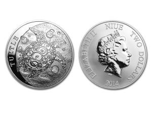 2014紐西蘭玳瑁海龜銀幣1盎司