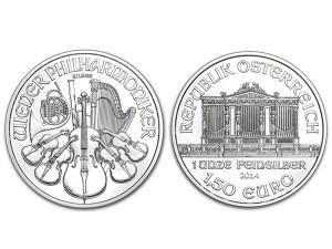 2014維也納愛樂銀幣1盎司