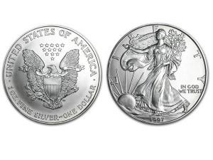 1997美國鷹揚銀幣1盎司