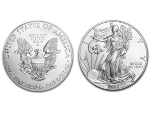 2002美國鷹揚銀幣1盎司