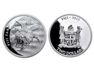 2013紐西蘭玳瑁海龜銀幣1盎司