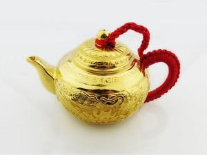 黃金雕花- 茶壺