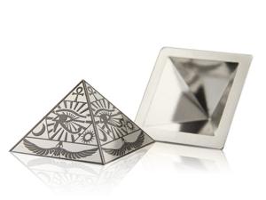 炫麗金字塔(Ag.999)-荷魯斯之眼黑色-空心5盎司