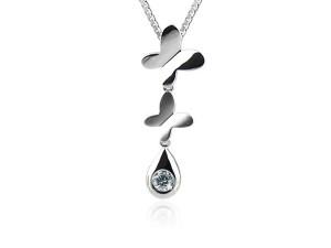 蝶戀鑽石項鍊