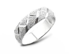 復古雕紋純銀銀戒指