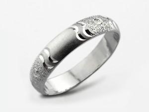 水波浪紋純銀戒指