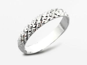 凹凸雕紋純銀銀戒指
