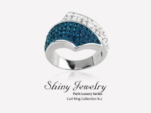 巴黎藍鑽   銀戒指