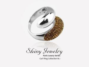 巴黎幾何   銀戒指