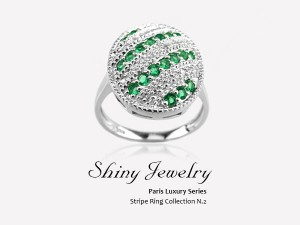 巴黎綠圓   銀指