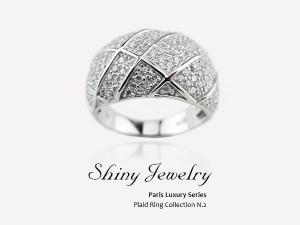 巴黎金鑽    銀戒指