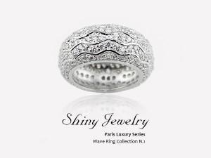 巴黎波浪造型   銀戒指