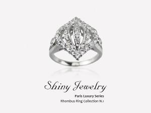 巴黎菱型   純銀戒指