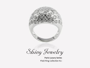 巴黎格紋  純銀戒指