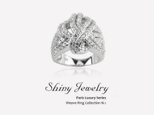 巴黎編織晶鑽  戒指