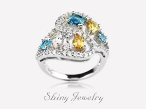 朵朵晶麗NO3  銀戒指