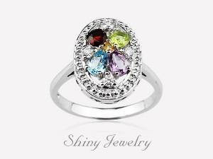花樣彩晶NO1 銀戒指