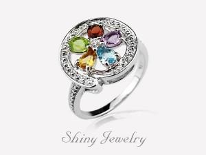 花樣彩晶NO2  銀戒指