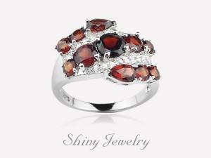 花樣棕晶NO1  銀戒指