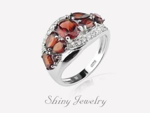 花樣棕晶NO3  銀戒指