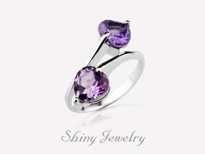 紫色情緣NO1-純銀戒指