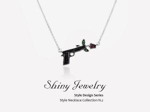槍與玫瑰  純銀項鍊