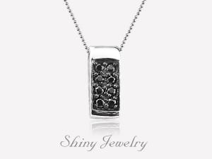 黑方鑽   純銀項鍊