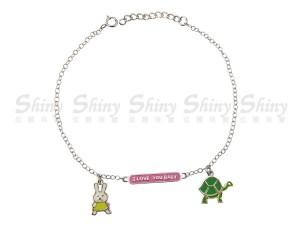 烏龜與兔銀手鍊
