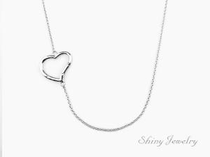 簡單空心純銀項鍊