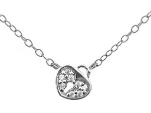 心型鎖純銀項鍊