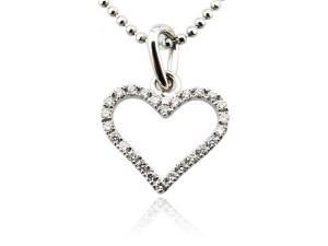 鑽石愛心項鍊