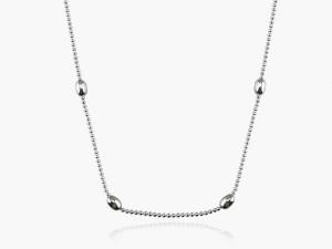 純銀項鍊-珠珠造型