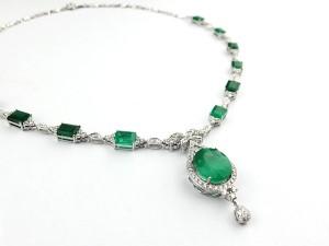 訂製祖母綠白金套鍊