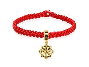 編織手環+黃金串飾-輪盤